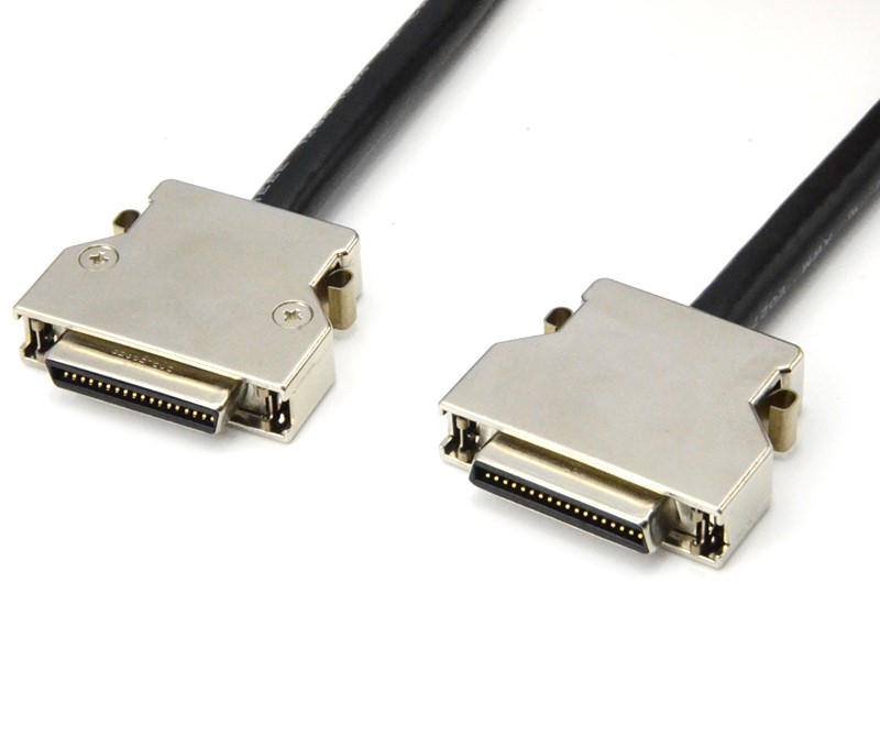 SCSI HPCN 36pin Cable Metal Connector with Spring Latch