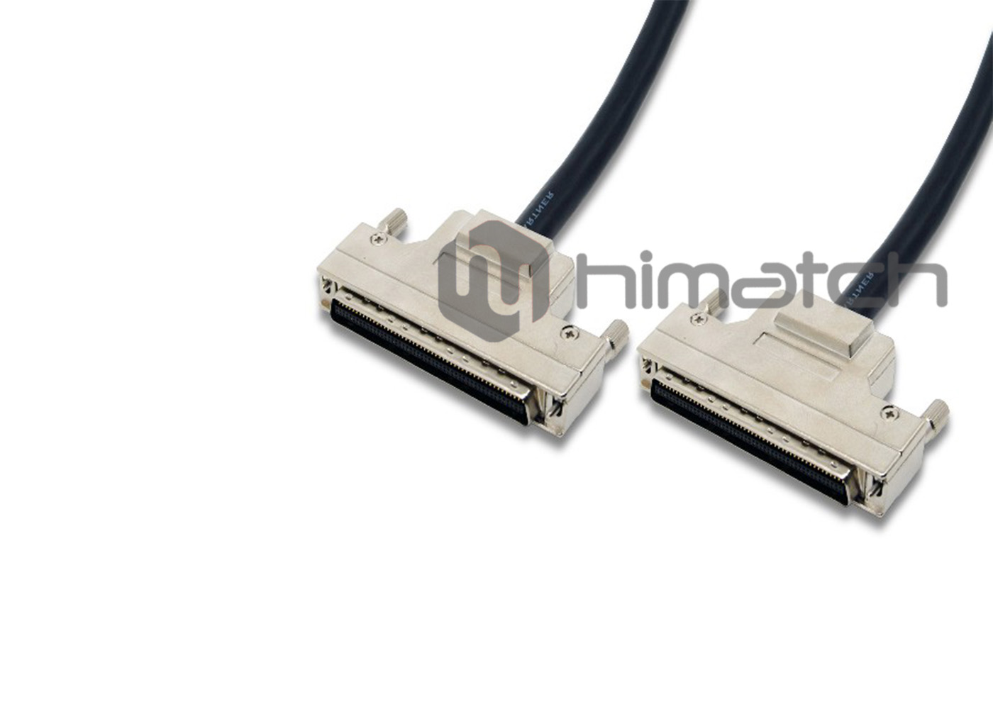 MDR 100pin Shielded Cable with Metal Shell and Thumbscrew