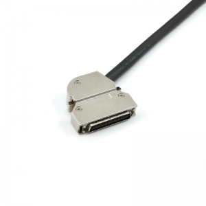 SCSI HPCN 50pin Shielded Cable Metal Connector with Spring Latch