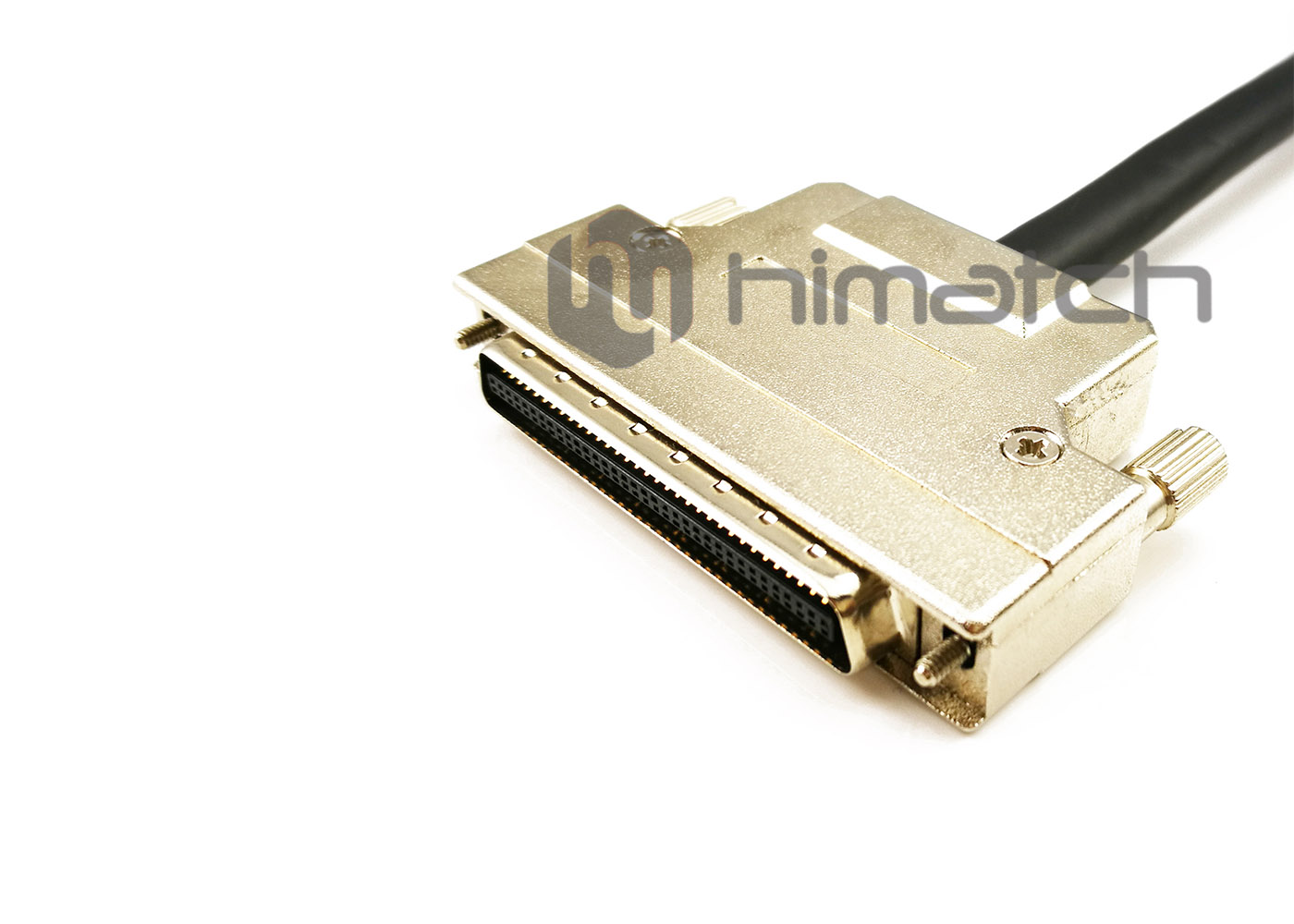 MDR 68pin Shielded Cable with Metal Shell and Thumbscrew