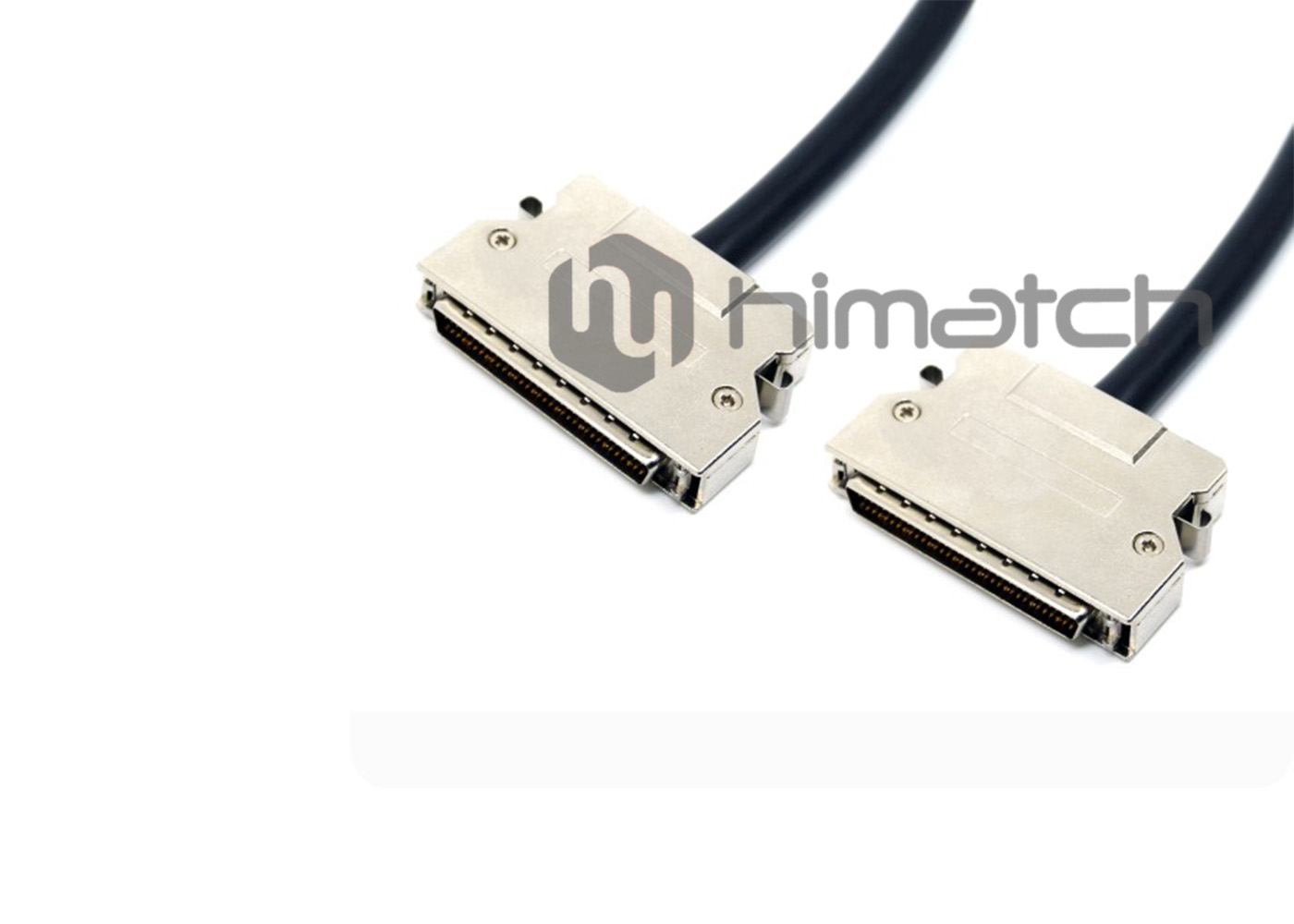 SCSI HPDB 68pin Shielded Cable Metal Connector with Spring Latch