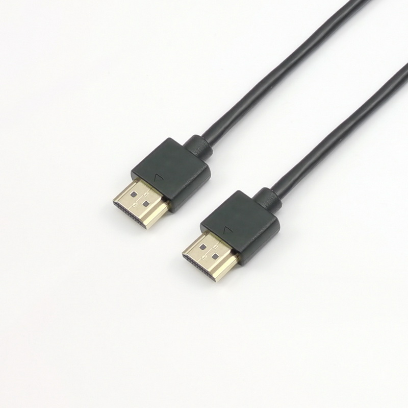 Slim HDMI 2.0 Cable with Slim Cable and Small Size Gold Connector 2m 5m 8m